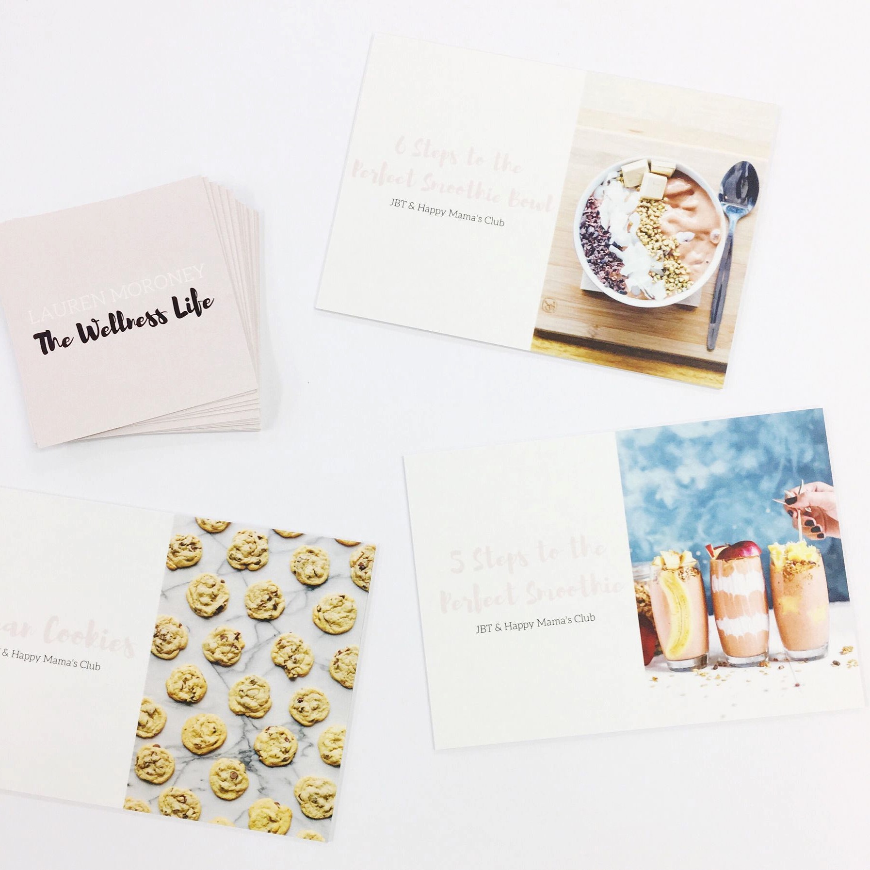 Recipe cards for The Wellness Life by Jabiru Printing